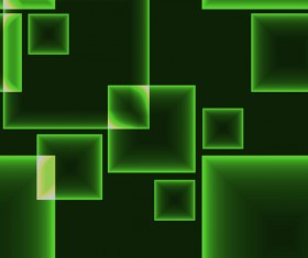 Green cube background vector