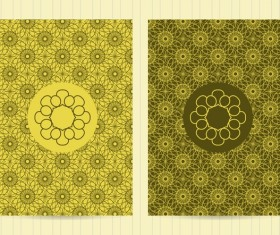 Green seamless pattern decor vector material
