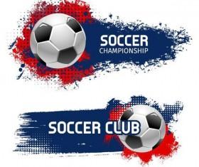 Grunge football banner template vector