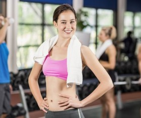 Gym fitness girl Stock Photo 04