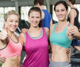 Gym fitness girl Stock Photo 05