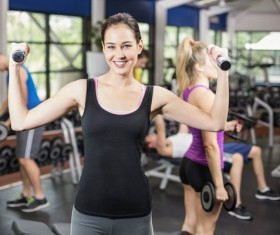 Gym fitness girl Stock Photo 06