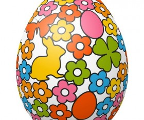 Hand drawn easter egg vector 03