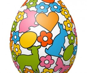 Hand drawn easter egg vector 04