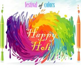 Happy holi festvial color abstract vector 08