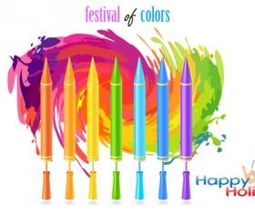 Happy holi festvial color abstract vector 11