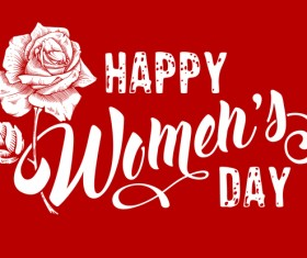Happy womens day flower background vector 01