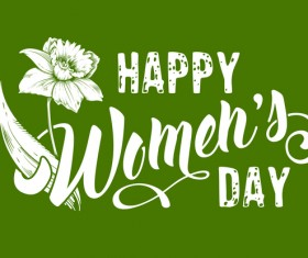 Happy womens day flower background vector 02