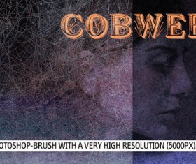 High resolution gobwebby Photoshop Brushes