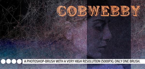 High resolution gobwebby Photoshop Brushes
