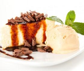 Ice cream and cake dessert Stock Photo 01