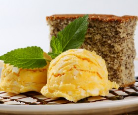 Ice cream and cake dessert Stock Photo 05