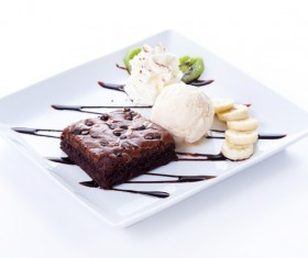 Ice cream and cake dessert Stock Photo 08