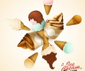 Ice cream vector backgrounds 01