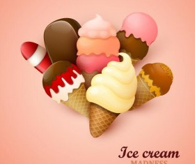 Ice cream vector backgrounds 02