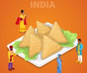 India cuisine vector design