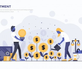 Investment flat business template vector