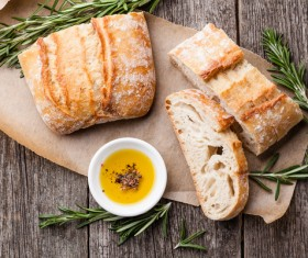 Italian ciabatta bread Stock Photo 02