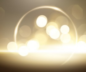 Light circles with halation effect background vector
