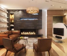 Luxury Living room Stock Photo 01