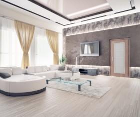 Luxury Living room Stock Photo 02