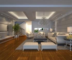 Luxury Living room Stock Photo 04