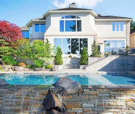 Luxury home with pool Stock Photo 02
