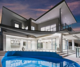 Luxury home with pool Stock Photo 04