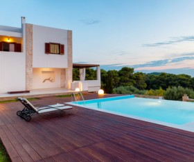 Luxury home with pool Stock Photo 06