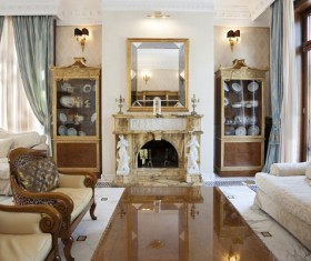 Luxury interior in a classic style Stock Photo 02