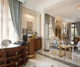 Luxury interior in a classic style Stock Photo 03