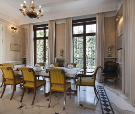Luxury interior in a classic style Stock Photo 04