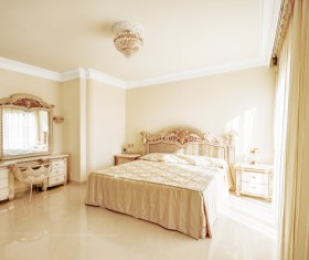 Luxury simple bedroom Stock Photo 01