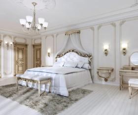 Luxury simple bedroom Stock Photo 02