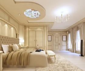Luxury simple bedroom Stock Photo 03