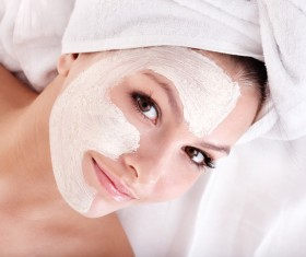 Make mask skin care lady Stock Photo 01