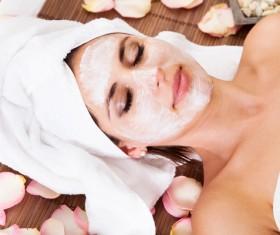 Make mask skin care lady Stock Photo 02