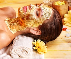 Make mask skin care lady Stock Photo 03