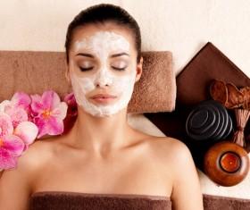 Make mask skin care lady Stock Photo 04