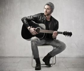Man playing the guitar Stock Photo 02