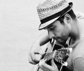 Man playing the guitar Stock Photo 03
