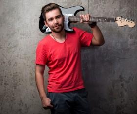 Man playing the guitar Stock Photo 05