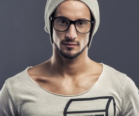 Man with glasses Stock Photo 02