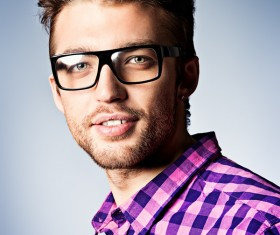 Man with glasses Stock Photo 03