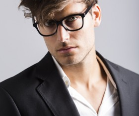 Man with glasses Stock Photo 06