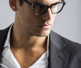 Man with glasses Stock Photo 07