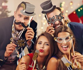 Men and women Holiday party Stock Photo 01
