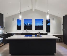 Modern Open kitchen Stock Photo 01