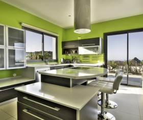 Modern Open kitchen Stock Photo 02