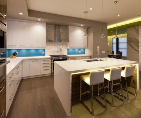 Modern Open kitchen Stock Photo 04